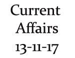 Current Affairs 13th November 2017
