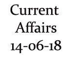 Current Affairs 14th June 2018