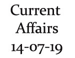 Current Affairs 14th July 2019