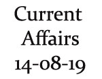 Current Affairs 14th August 2019