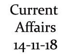Current Affairs 14th November 2018