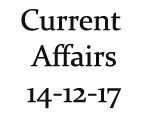 Current Affairs 14th December 2017