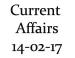 Current Affairs 14th February 2017