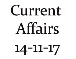 Current Affairs 14th November 2017