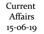 Current Affairs 15th June 2019