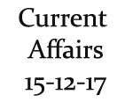 Current Affairs 15th December 2017