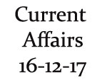 Current Affairs 16th December 2017