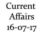 Current Affairs 16th July 2017