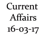 Current Affairs 16th March 2017