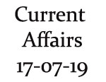 Current Affairs 17th July 2019