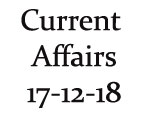 Current Affairs 17th December 2018