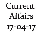 Current Affairs 17th April 2017