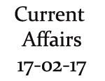 Current Affairs 17th February 2017