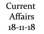 Current Affairs 18th November 2018