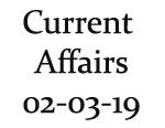 Current Affairs 2nd March 2019