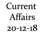 Current Affairs 20th December 2018