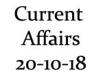 Current Affairs 20th October 2018
