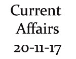 Current Affairs 20th November 2017