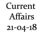 Current Affairs 21st April 2018