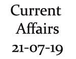 Current Affairs 21st July 2019