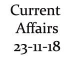Current Affairs 23rd November 2018