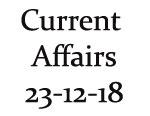 Current affairs 23rd December 2018