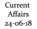 Current Affairs 24th June 2018