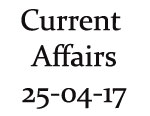 Current Affairs 25th April 2017
