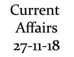 Current Affairs 27th November 2018