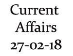 Current Affairs 27th February 2018