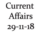 Current Affairs 29th November 2018