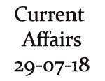 Current Affairs 29th July 2018