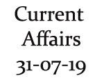 Current Affairs 31st July 2019