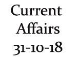 Current Affairs 31st October 2018