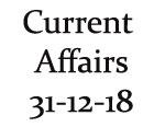 Current Affairs 31st December 2018