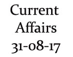 Current Affairs 31st August 2017