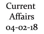 Current Affairs 4th February 2018