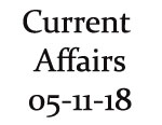 Current Affairs 5th November 2018