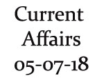 Current Affairs 5th July 2018