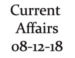 Current Affairs 8th December 2018