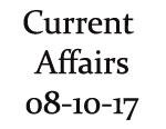 Current Affairs 8th October 2017