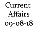 Current Affairs 9th August 2018