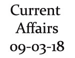 Current Affairs 9th March 2018