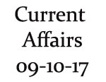 Current Affairs 9th October 2017
