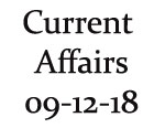 Current Affairs 9th December 2018