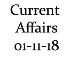 Current Affairs 1st November 2018