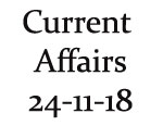 Current Affairs 24th November 2018