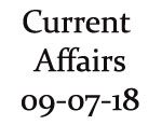 Current Affairs 9th July 2018
