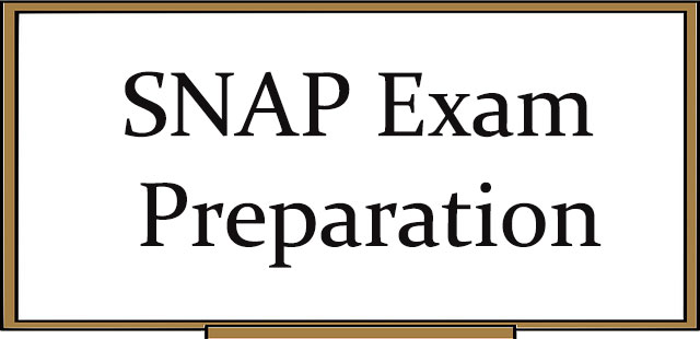 Preparation of SNAP Entrance Exam - Important Tips