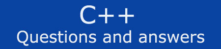 C++ Programming Questions Answers - Chapter 1